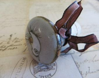 Wine Bottle Stopper-Ceramic with White Bird-Wine Gifts
