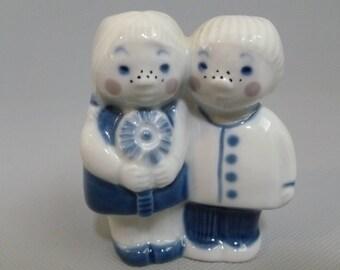 Vintage Porsgrund Norway Boy and Girl Blue Figurine