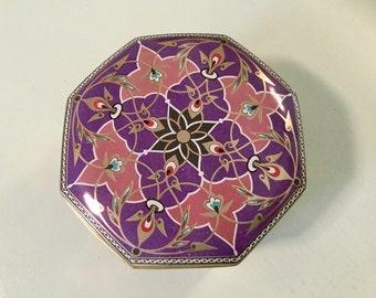 Meister Tin Litho Metal Candy Box Purple