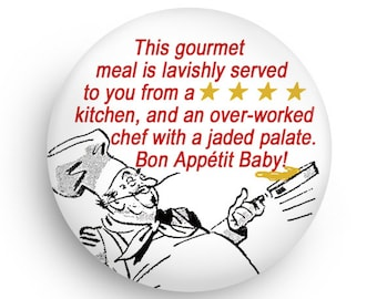Funny Chef Fridge Magnet, Magnet for Profeesional Chefs, Foodies