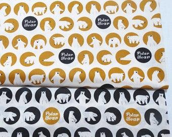 4551 - Polar Bear Twill Cotton Fabric - 62 Inch (Width) x 1/2 Yard (Length)