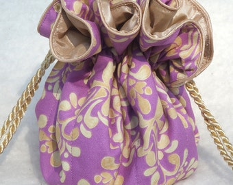 Damask in Orchid Jewelry Bag, Travel Jewelry Bag