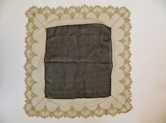 Victorian Mesh Lace Handkerchief Scarf