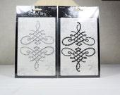 Rhinestone Flourish Embellishment Stickers, Scrapbook Supplies, Craft Supplies
