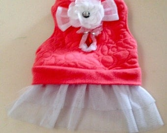 XS Recycled-UpCycled Dog Harness Dress-Chihuahua Clothes-Poodle-Maltese- Yorkie- BARGAIN