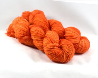 Bonfire - Postcard - Semi Solid Yarn - Orange Yarn - Orange Sock Yarn - Orange Tonal Yarn