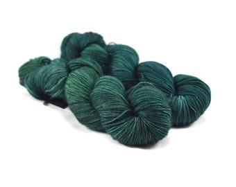 Pine Forest - Letter - Semi Solid Yarn - Tonal Yarn - Tonal Green Yarn - Green Sock Yarn