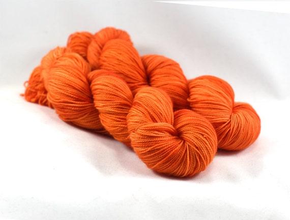 Bonfire - Letter - Semi Solid Yarn - Orange Yarn - Orange Sock Yarn - Orange Tonal Yarn