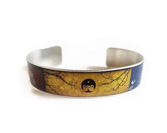 Shakespeare A Midsummer Night's Dream cuff bracelet skinny thin owls