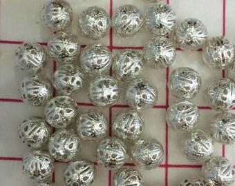 Bargain! Iron filigree beads 15 mm