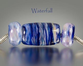 Handmade Lampwork Big Hole Bead by BluDragonfly SRA - European Charm Beads
