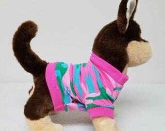Dog Clothes Pink Camo Tshirt, Chihuahua, Yorkie