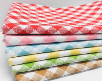 Sale!  Sew Cherry 2 by Lori Holt - Gingham bundle (6 Pieces)