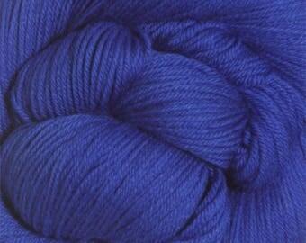 Royal Blue Cascade Heritage Yarn 437 yards Super Fine Wool Nylon Sock Yarn Color 5615