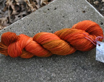 Superwash Merino Worsted - Rusty Nail Colorway