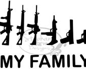 My Family Guns-SVG Cut File for use with Silhouette Studio Design Edition,Cricut Design Space and others