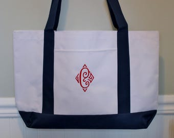 Monogrammed Tote Bag in Your Choice of Colors