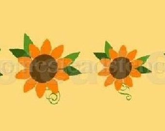 "PRIMITIVE STENCIL -Item 3962 - Multi Size Sunflower Graphic 2"" - 6""  - Clear 5Mil Mylar -Make Your Own Sign"
