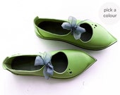 Everyday comfort shoes, ESTHER, Handmade Leather Vintage Inspired Shoes by Fairysteps in your colour and size