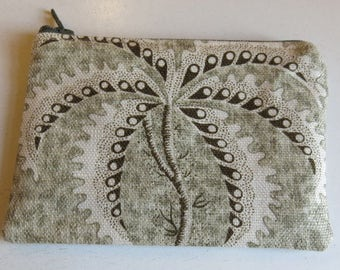 Coin purse in palm tree print