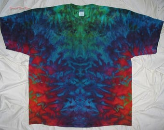 Give your eyes a treat, tie dye, 3XL ice dye, tie dyed tshirt by grateful dan dyes, trippy tie dye, psychedelic rorschach inkblot test