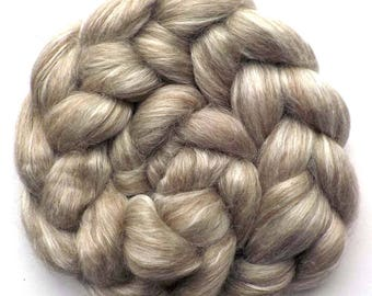50/50 BFL/Silk Combed Top Roving Custom Blend Natural Colors