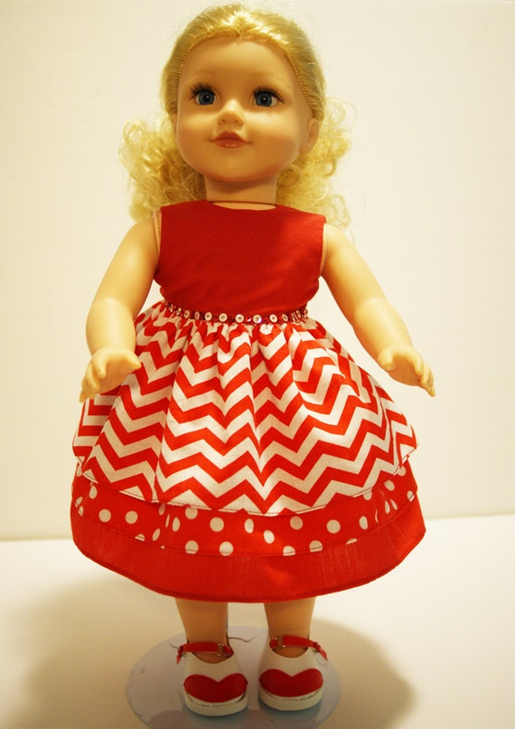 3-tiered-skirt Party Dress for Your 18-inch Doll (American Girl, etc.)
