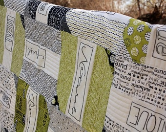 PRE-ORDER- Authentic Words Quilt Kit (1/2 charged when ordering, 1/2 charged when shipped, please read full description)