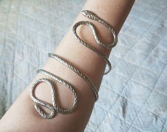 Vintage Silvertone Snake Charmers Arm Cuff