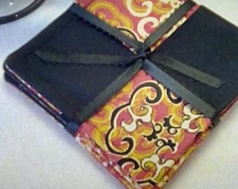 Mug Rug SET of 4,  Spanish,  Fabric Coasters, Handmade, Hostess Gift, FREE Shipping in US