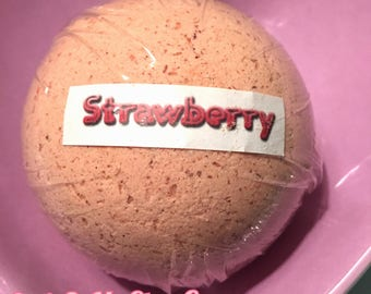 Cutie Bath Bomb Strawberry, Ready To Ship