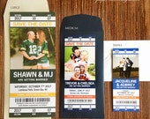Sport Ticket Wedding Save the Date or Invitation / football / baseball / hockey / soccer