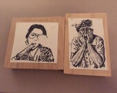 Old Ladies  Funny Rubber Stamps