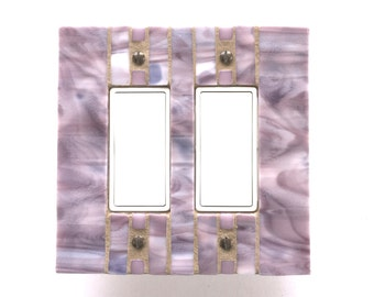 Lavender Switch Cover, Purple Switchplate, Light Switch Plate, Stained Glass Mosaic, Outlet Cover, Decora Wall Plate, Light Switch, 8490