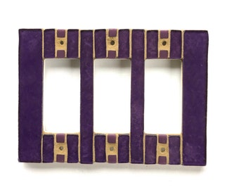 Purple Switch Plate, Stained Glass Switchplate, Light Switch Cover, Outlet Cover, Dimmer Switch, Wall Switch Plate, Decorative Switch, 8496