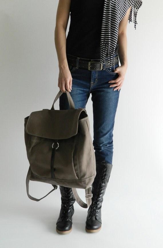 Sale Sale Sale 30% - Tanya in Taupe Brown backpack /Leather Backpack /Satchel Rucksack /Laptop bag  /Tote / Unisex /School bag
