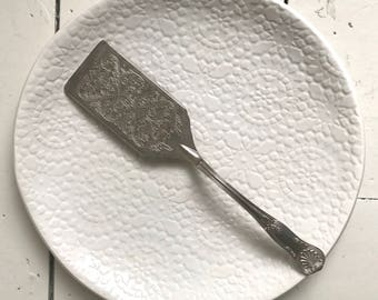 White Charger -  UnderPlate - handmade ceramics - pattern - X Large Plate - Platter -  Wobbly Plates Series