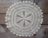 Antique Crochet Lace Doily , Crochet Lace, Vintage Crocheted Lace, Lace Doily, Vintage Textile, Sewing Supplies, Crocheted Lace Doily