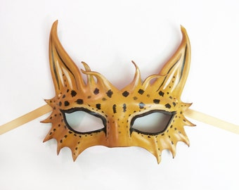 Little Leopard Cat Leather Mask  a smaller and very light version of my bigger Leopard & Spotted Cat masks