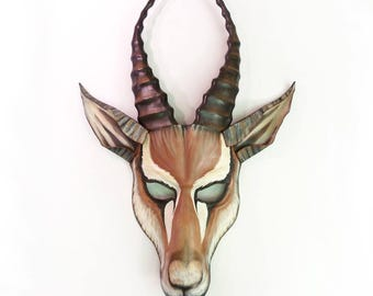 GAZELLE Leather Mask Africa  African Wild Animal