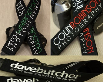 """Personalized or Business Logo Camera Strap 2"""" Wide Custom Padded"""