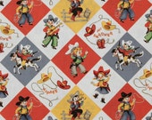 FQ ~ 1/2 Yard ~ 3/4 Yard ~ By the Yard ~ Yippee! Cow Kids, Michael Miller Retro Cotton Children's Fabric
