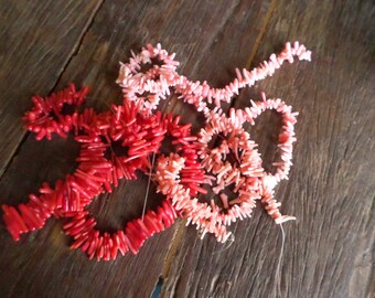 Three Strands of Petite Coral in Three Colors