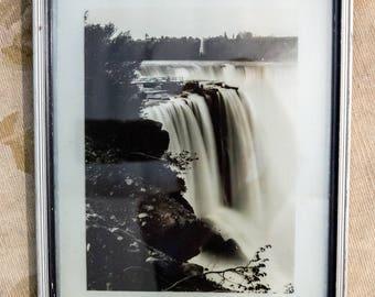 Antique Glass Plate Negative of Niagara Falls from 1884 Original Photograph