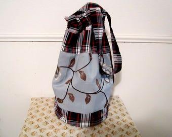 Large Size Bag, Bucket Bag, Drawstring Bag, Fabric Bucket Bag, Sack Bag, One-of-a-Kind Bag