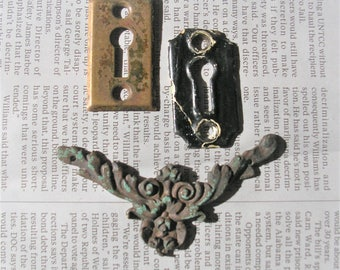Antique Vintage Keyhole Covers Antique Vintage Escutcheons DIY Jewelry