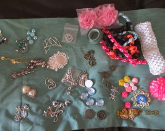 Craft Fair Supplies, Newbie Crafters, Ribbon, Charms, Buttons, Flatbacks, Cabachons
