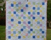 Price Reduced - Pastel Baby Quilt Sale