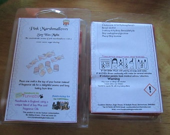 Pink Marshmallows Scented Soy Wax Melts Pack