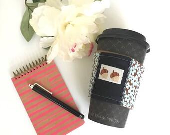 Ecofriendly Coffee Sleeve, Coffee Cozy, Java Jacket, Woodland Coffee Sleeve, Cute Coffee Sleeve, Teacher Gift, Babysitter Gift, Reusable